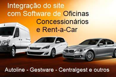 Site e APP integrados com Software de Concessionárias, Oficinas e Rent-a-car